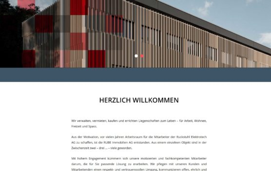 Rube-Immobilien Homepage