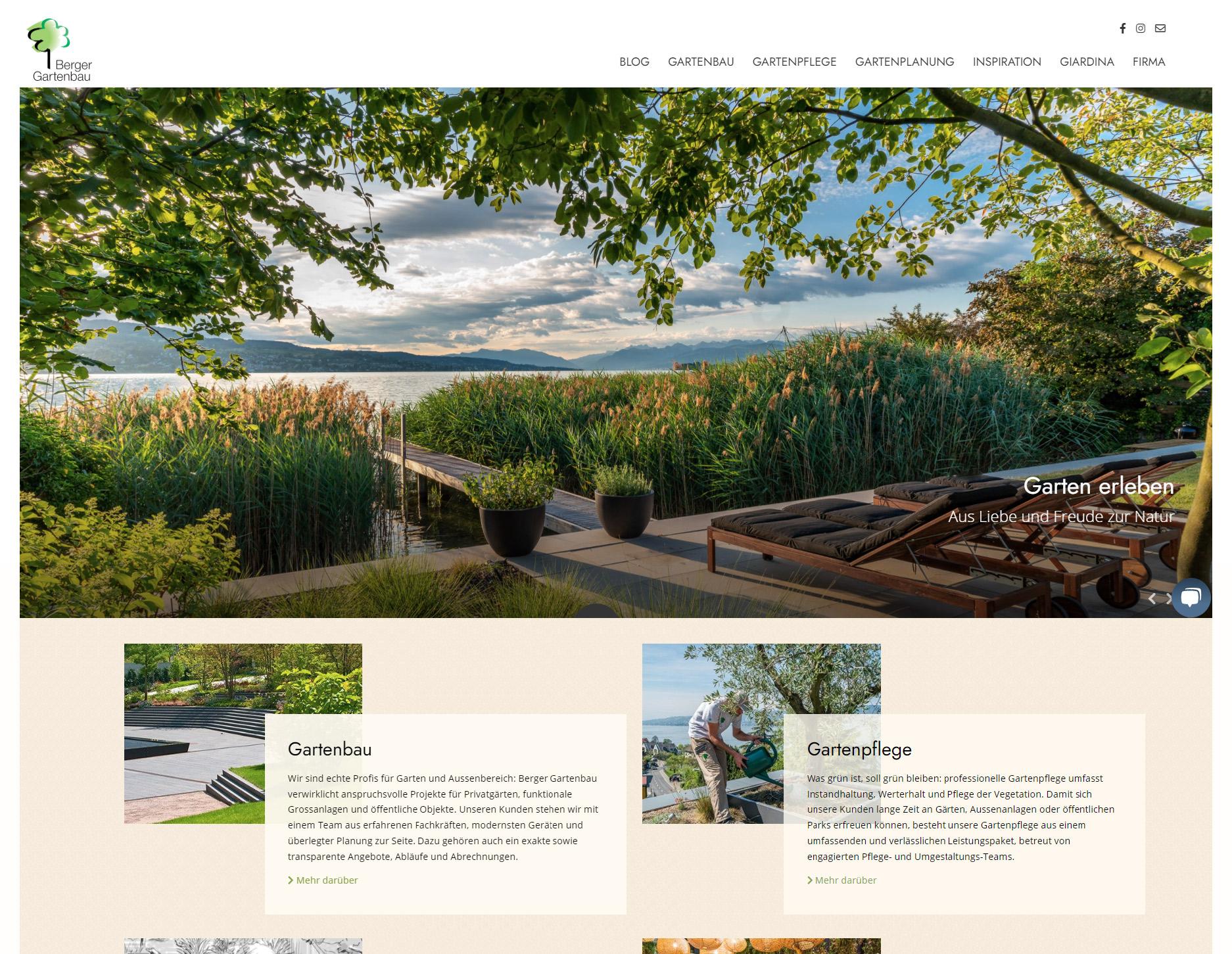 Website Berger Gartenbau