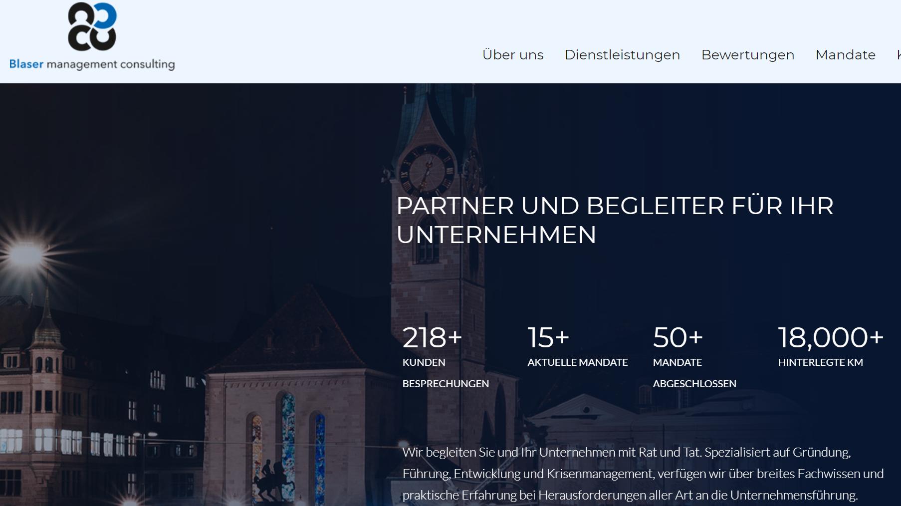 Website bmc Blaser Management Consulting
